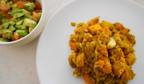 Вегетарианско къри с леща и тиква