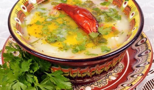 Застроена супа с пилешки дреболии