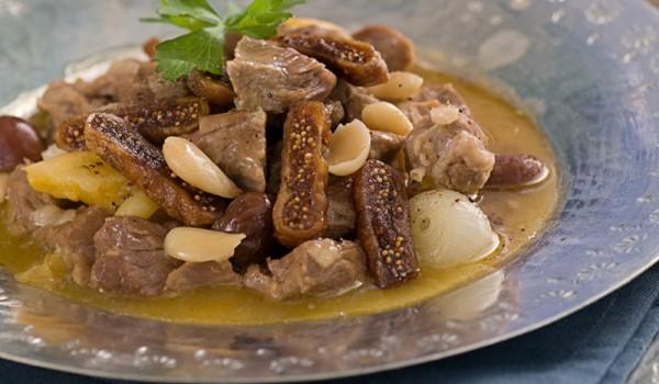 Свинско със смокини и лук по китайски