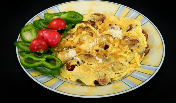 Омлет с гъби и сирене гауда